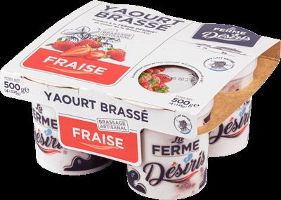 Pack de Yaourts Brassés - Fraise