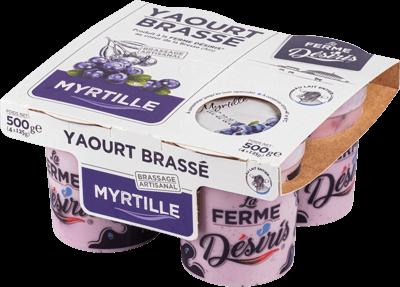 Pack de Yaourts Brassés - Myrtille