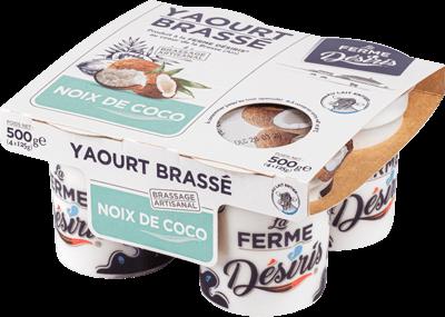 Pack de Yaourts Brassés - Noix de Coco