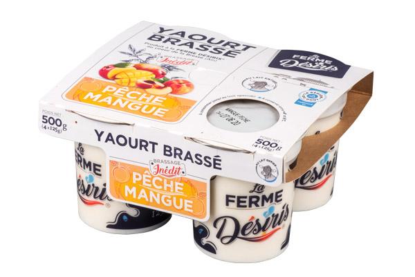 Pack de Yaourts brassés - Pêche Mangue